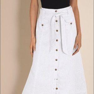 Soft Surroundings 💯% linen lined Nicoleta skirt